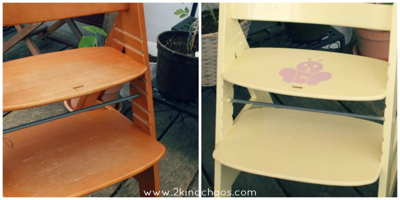 aus alt mach neu upcycling vom alten kinderhochstuhl 2kindchaos eltern blogazin. Black Bedroom Furniture Sets. Home Design Ideas